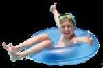 niño flotador