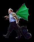 hombre paraguas